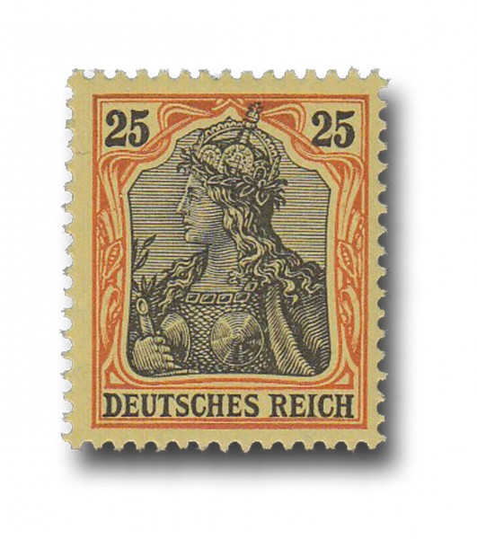 Briefmarke Deutsches Kaiserreich, Germania, 1902, Michel Nr. 73
