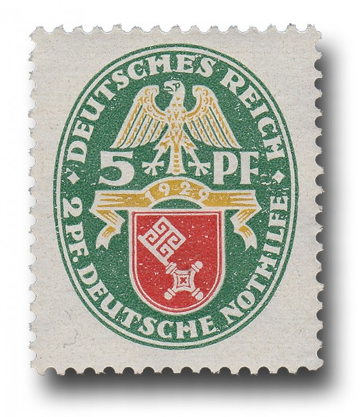 Briefmarke Deutsches Reich 1929 Weimarer Republik, Landeswappen Michel Nr. 430 **