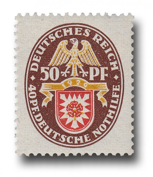 Briefmarke Deutsches Reich 1929 Weimarer Republik, Landeswappen Michel Nr. 434 **