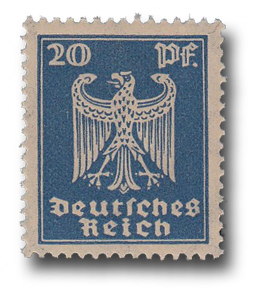 Briefmarke Deutsches Reich Weimarer Republik, 1924, Adler, Michel Nr. 358 X**