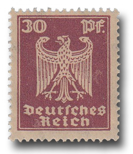 Briefmarke Deutsches Reich Weimarer Republik, 1924, Adler, Michel Nr. 359 X**