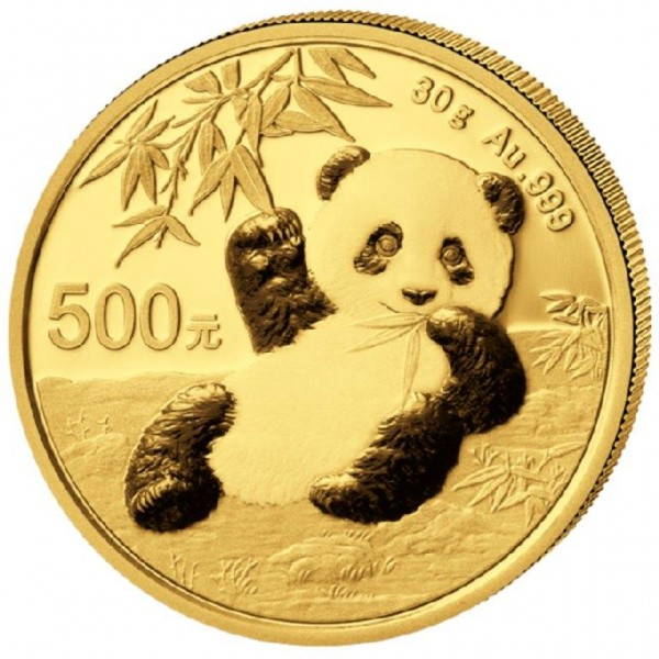 Goldmünze China, Panda, 30 Gramm, 2020 Stempelglanz