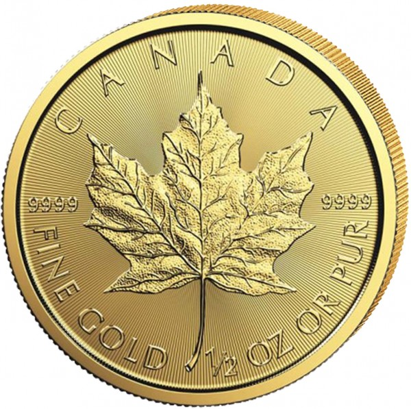 Goldmünze Kanada Maple Leaf, 1/2 Unze, 2020 Stempelglanz