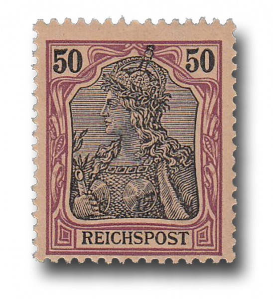 Briefmarke Deutsches Kaiserreich, Germania (I), 1900, Michel Nr. 61 **