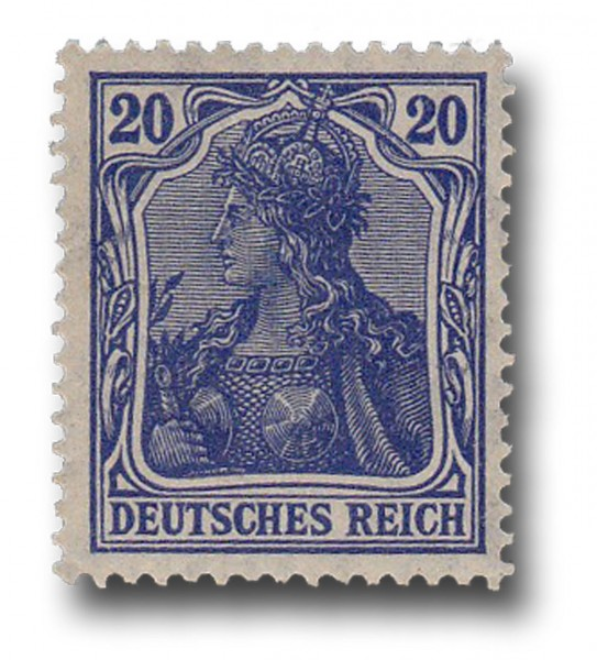 Briefmarke Deutsches Kaiserreich, Germania, 1905 / 1913 Michel Nr. 87 I a