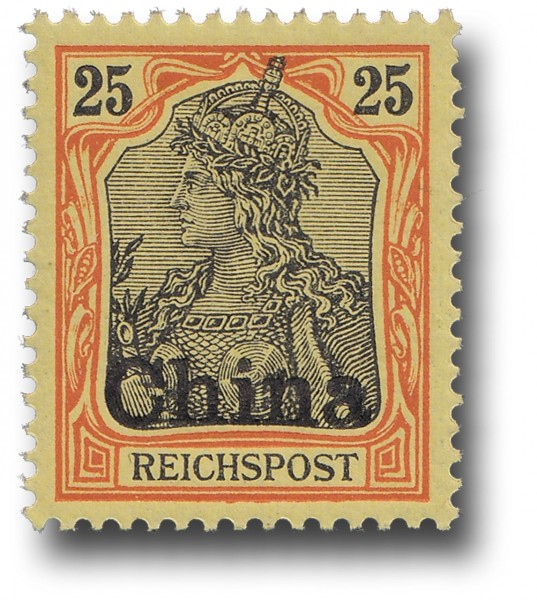 Briefmarke Deutsche Auslandspostämter, China, Michel Nr. 19 **