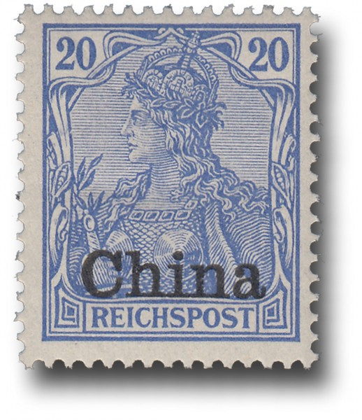 Briefmarke Deutsche Auslandspostämter, China, Michel Nr. 18 **
