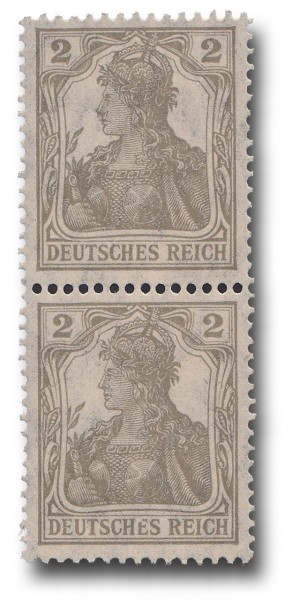 Briefmarke Deutsches Kaiserreich, Germania 1918, Michel Nr. 102, Zweier
