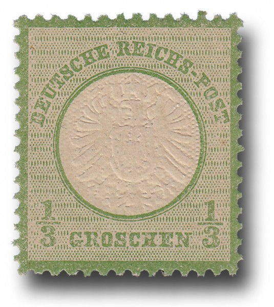 Briefmarke Deutsches Kaiserreich, Brustschilde, 1872, Michel Nr. 17a**