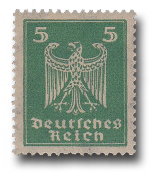 Briefmarke Deutsches Reich Weimarer Republik, 1924, Adler, Michel Nr. 356 X**