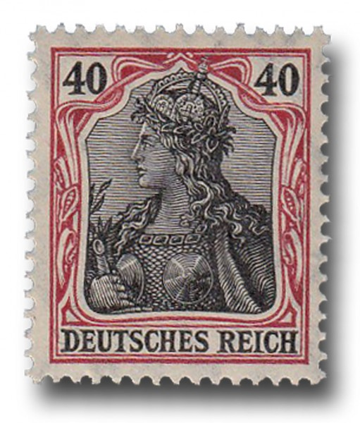 Briefmarke Deutsches Kaiserreich, Germania, 1905 / 1913 Michel Nr. 90 I