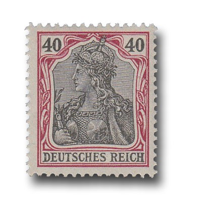 Briefmarke Deutsches Kaiserreich, Germania, 1902, Michel Nr. 75