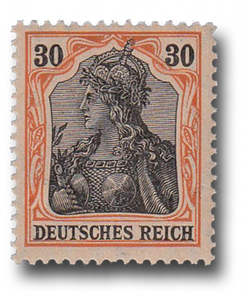 Briefmarke Deutsches Kaisrereich, Germania, 1905 / 1913 Michel Nr. 89 Ix