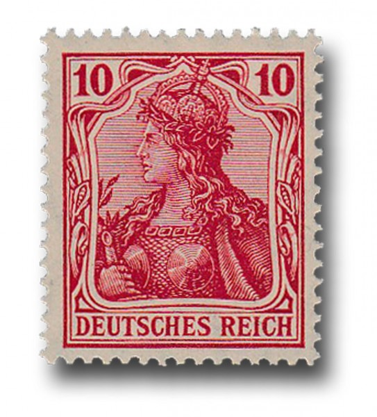 Briefmarke Deutsches Kaiserreich, Germania, 1905 / 1913 Michel Nr. 86 Ib