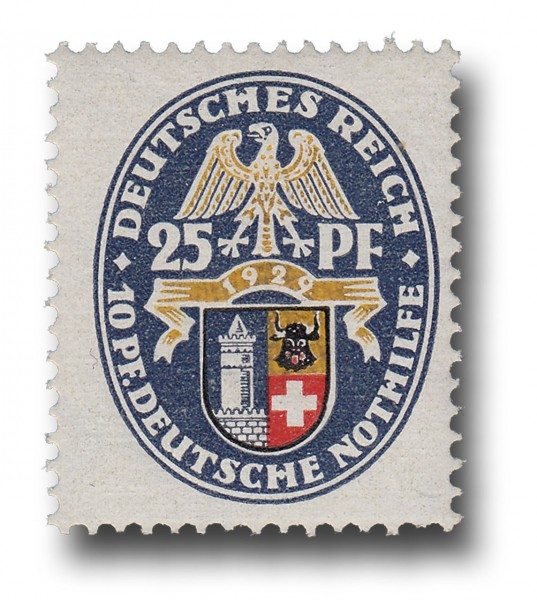 Briefmarke Deutsches Reich 1929 Weimarer Republik, Landeswappen Michel Nr. 433 **