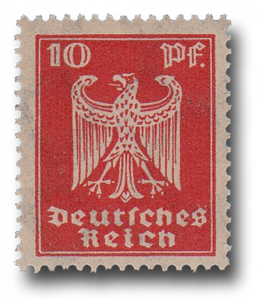 Briefmarke Deutsches Reich Weimarer Republik, 1924, Adler, Michel Nr. 357 X**