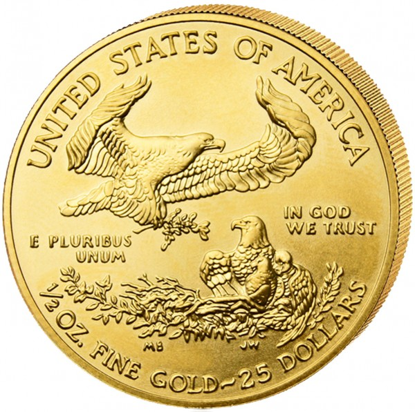 Goldmünze USA American Eagle 2021, 1/2 Unze, Gold