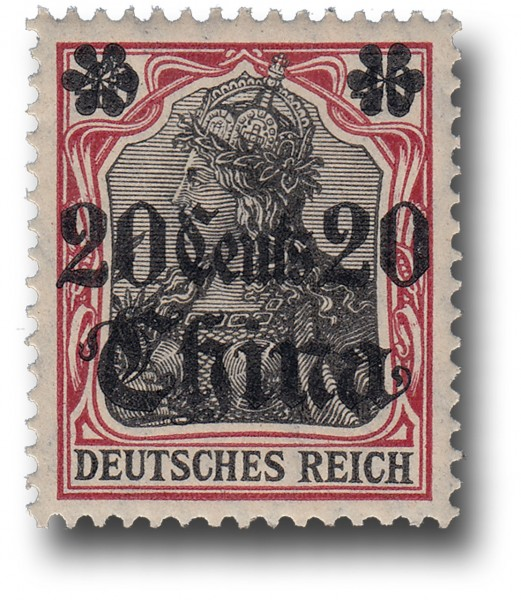 Briefmarke Deutsche Auslandspostämter, China, Michel Nr. 42 **