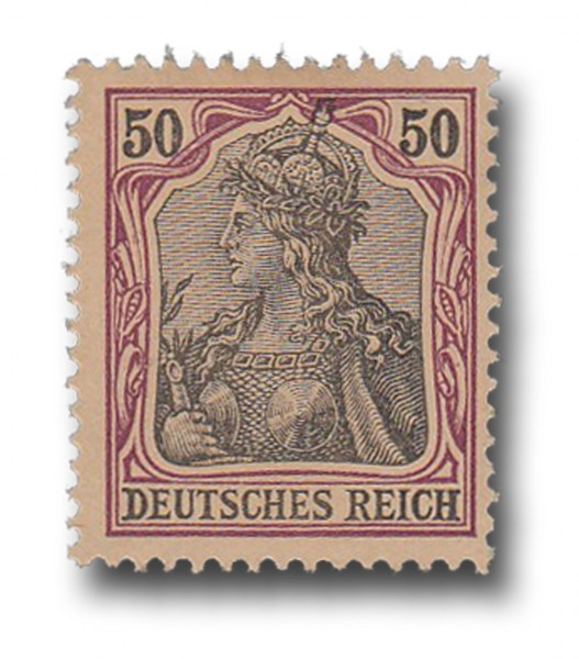 Briefmarke Deutsches Kaiserreich, Germania, 1902, Michel Nr. 76