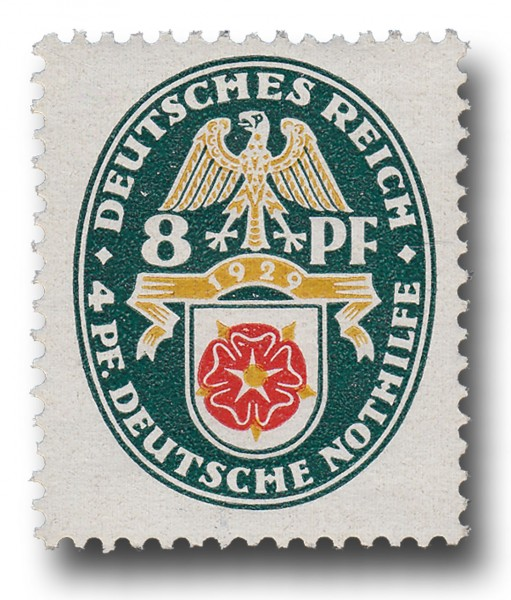 Briefmarke Deutsches Reich 1929 Weimarer Republik, Landeswappen Michel Nr. 431 **