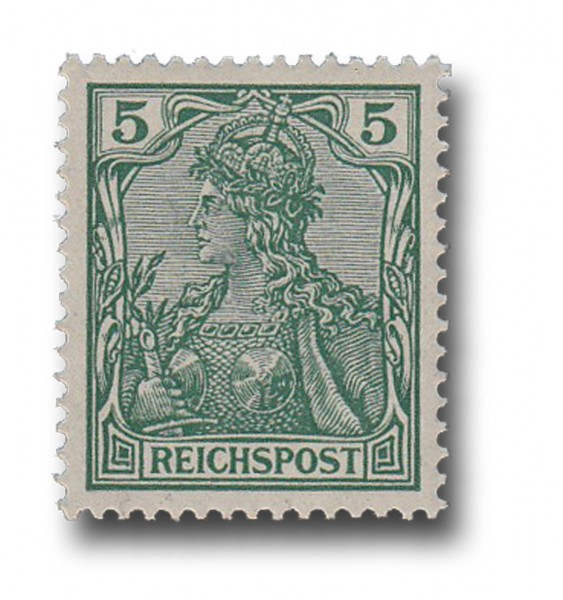 Briefmarke Deutsches Kaiserreich, Germania (I), 1900, Michel Nr. 55 **