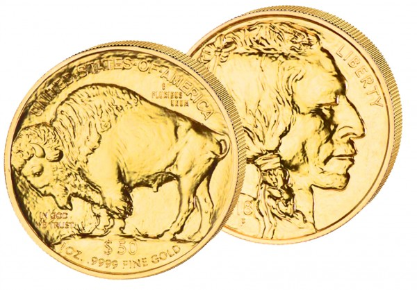 Goldmünze USA American Buffalo 2020, 1 Unze, Gold Au, St